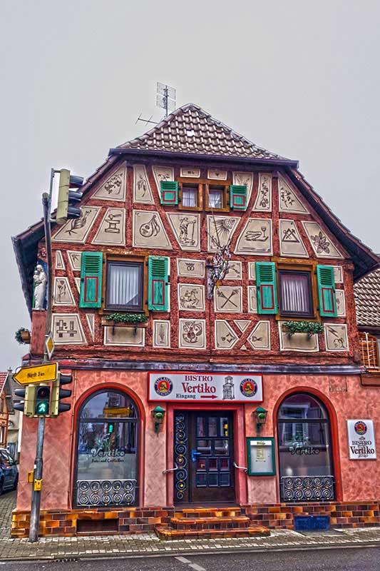 Ein Fachwerkhaus in Rülzheim