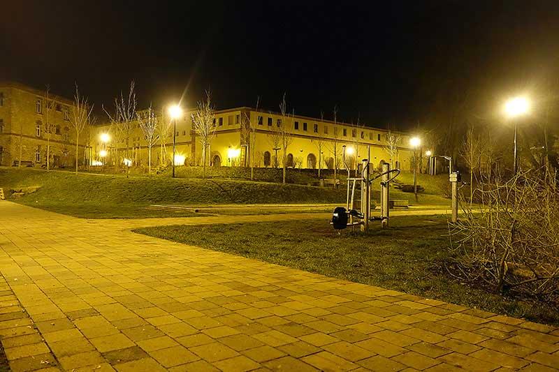 Der Park in Germersheim bei Nacht