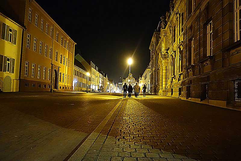 Die Altstadt von Speyer bei Nacht
