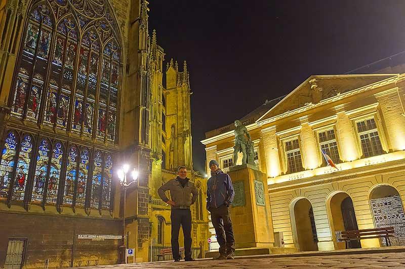 Adrien zeigte uns die interessanten Sehenswürdigkeiten in Metz
