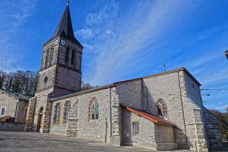 Die Kirche der französischen Gemeinde Flammerecourt
