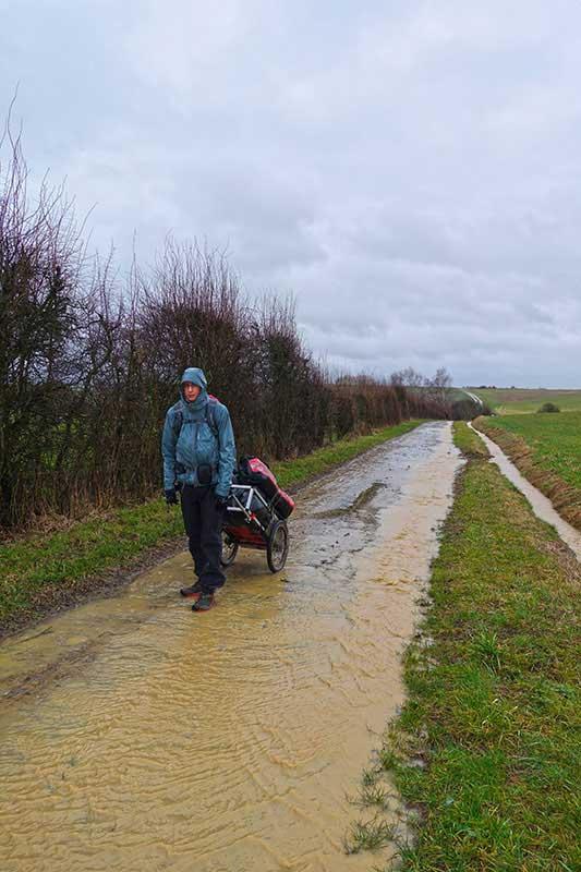 Wandern im Dauerregen macht weniger Spaß