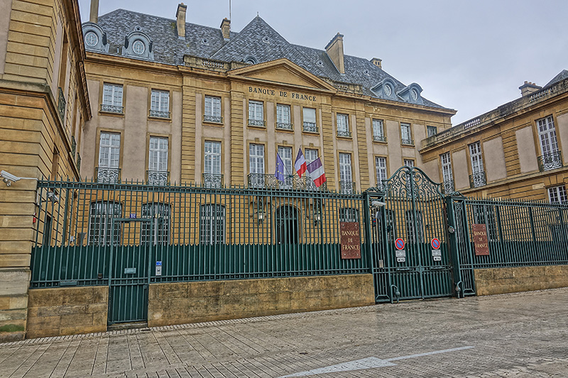 Die Banque de France in Metz
