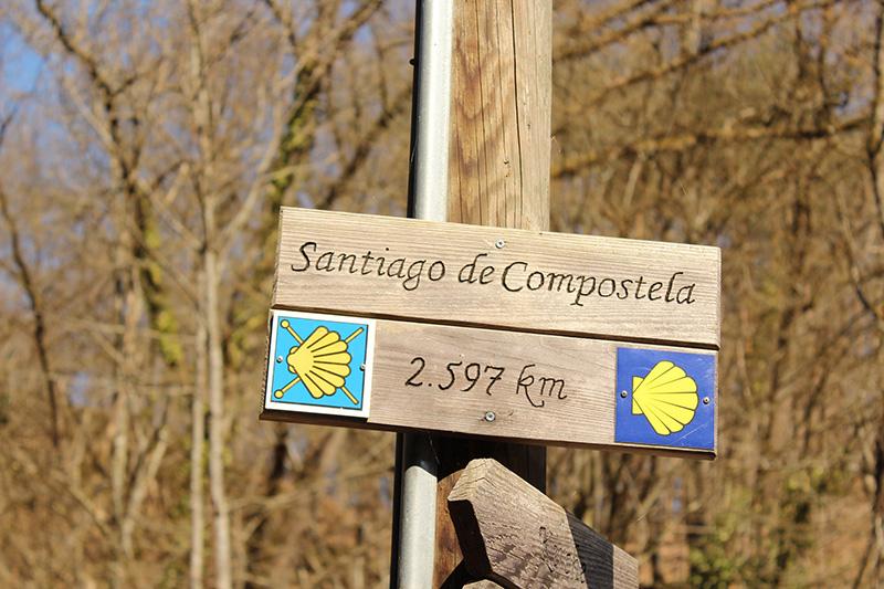 Wegweiser nach Santiago