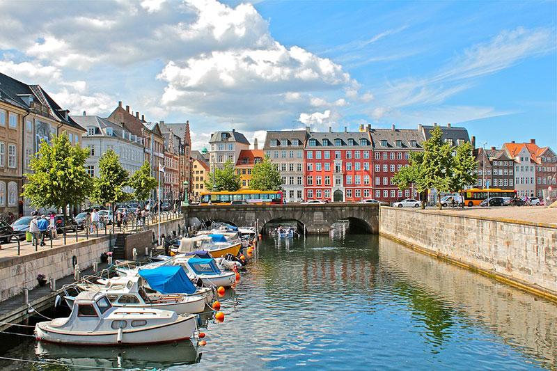 Kleine Kanäle in Kopenhagen