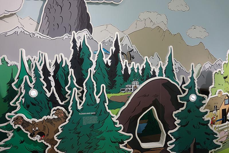 Die Wälder von Disney World im Donald-Duck-Museum