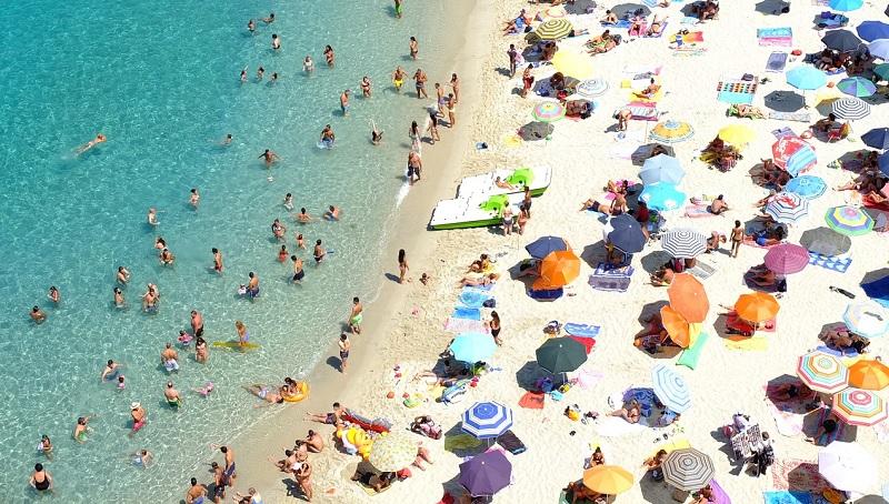 Individuell genutzter Strand