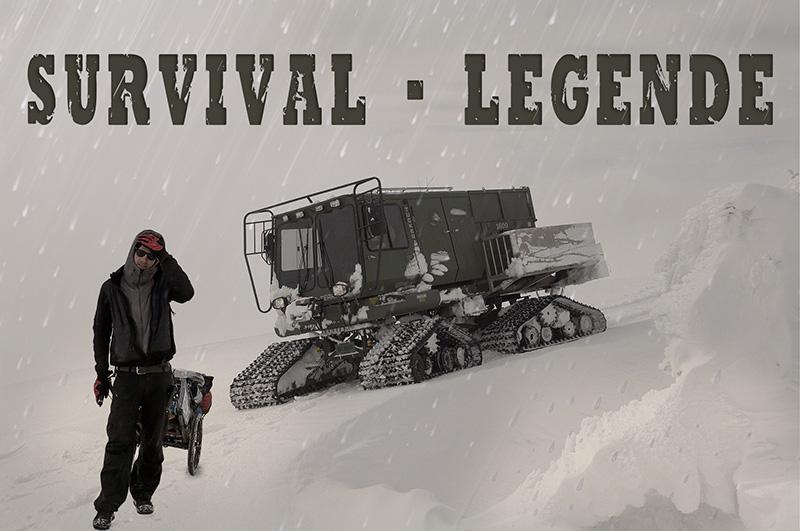 Survivallegende Heiko Gärtner mit Schnee