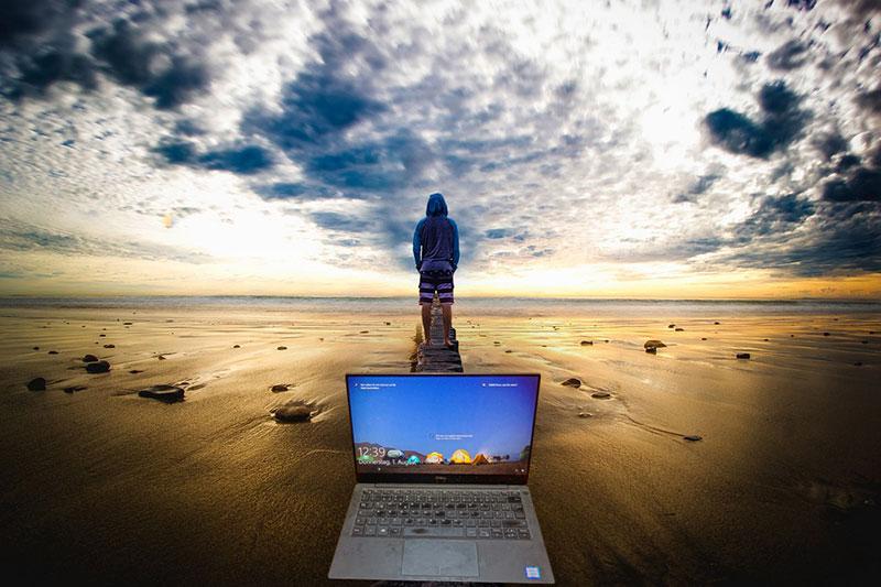 Der Dell XPS eignet sich auch für Webnomaden