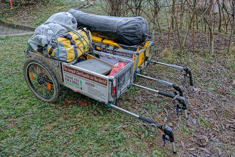 Jeder Pilgerwagen braucht passende Taschen um gut beladen werden zu können.